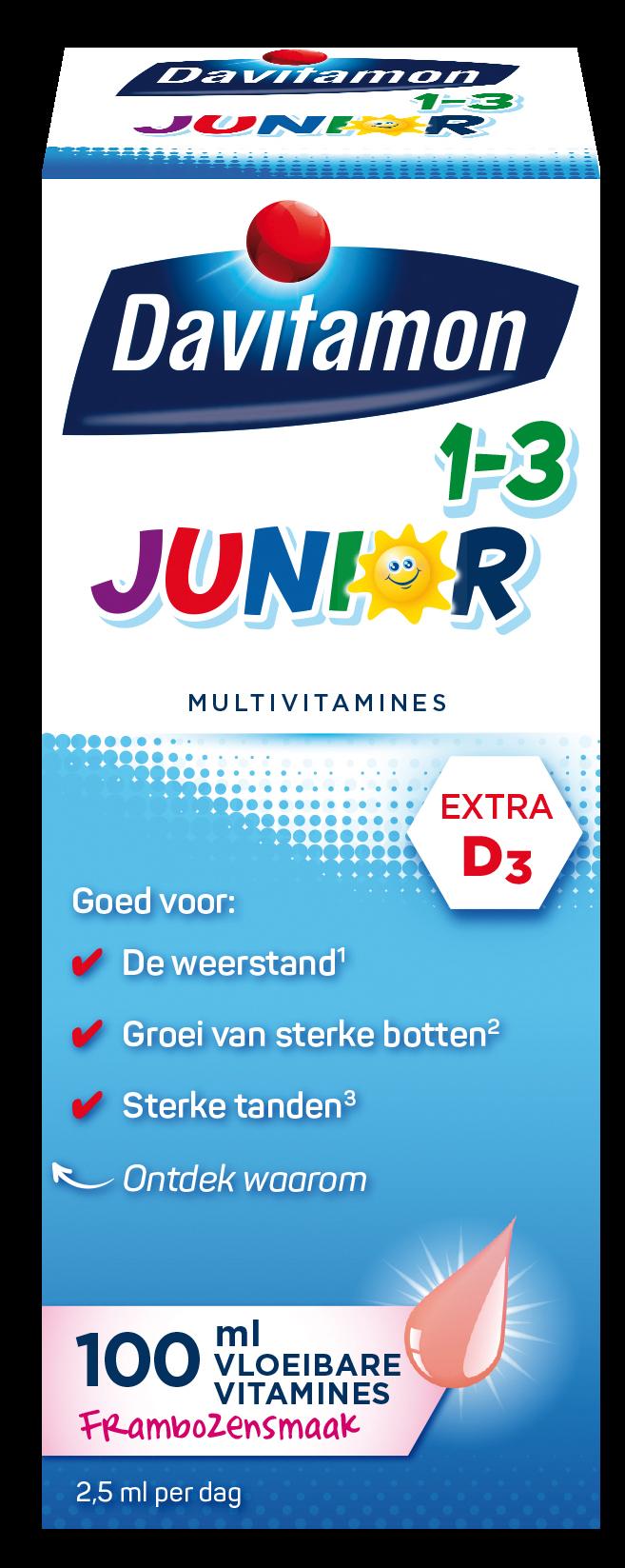 Davitamon Junior Vloeibare vitamines Verpakking