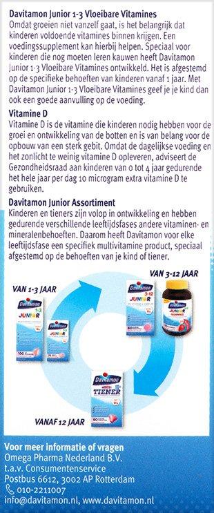 Davitamon Junior Vloeibare vitamines Beschrijving