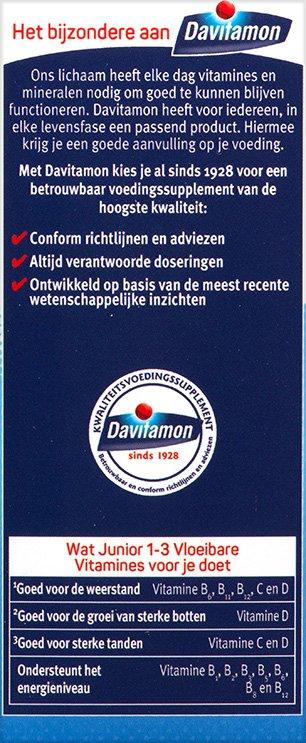 Davitamon Junior Vloeibare vitamines Voordelen