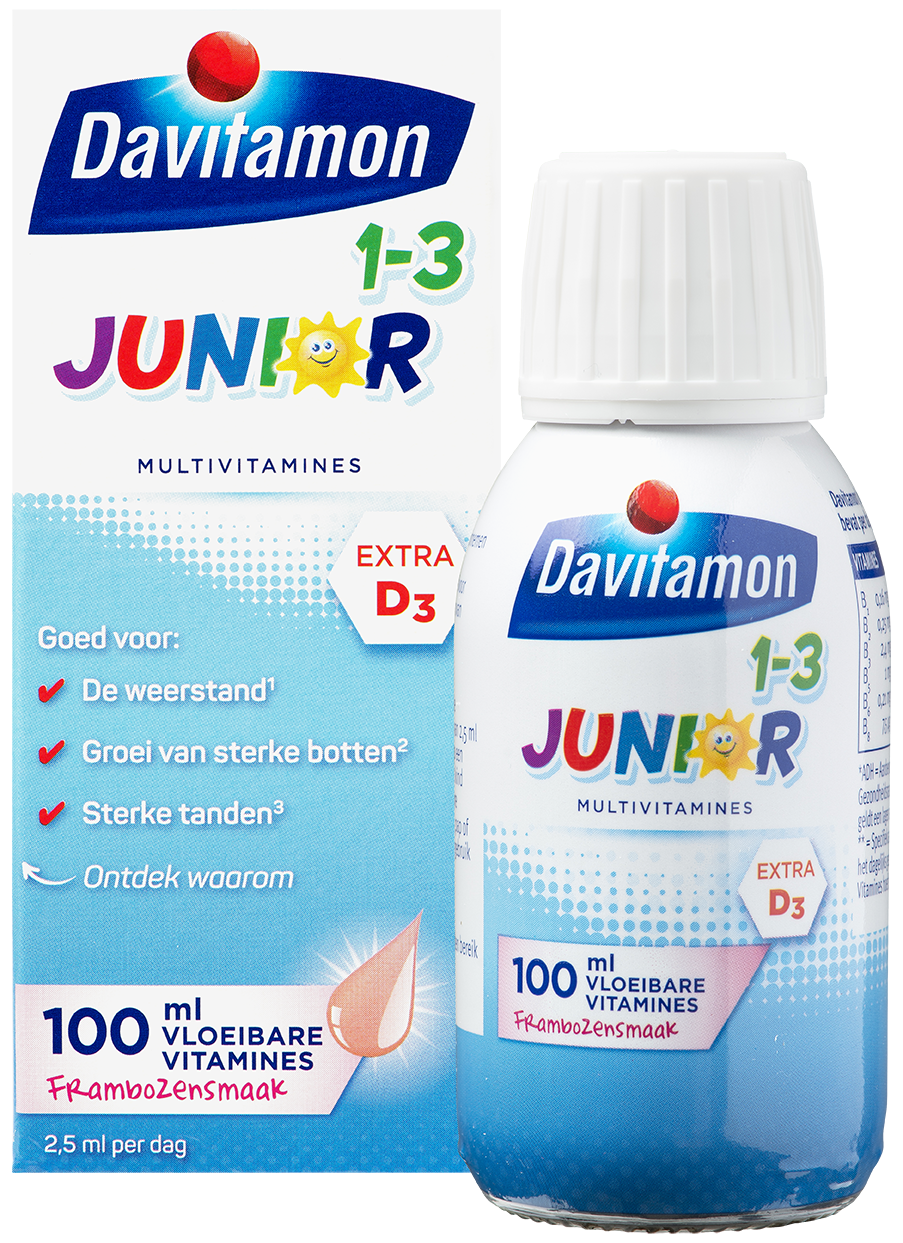 Davitamon Junior 1-3 Vloeibare Vitamines – 100 ml