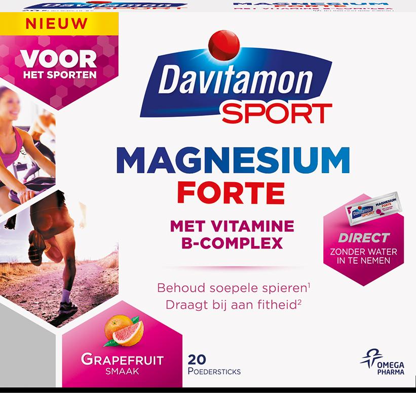 davitamon sport magnesium forte 20 poedersticks