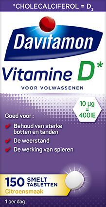 Davitamon Vitamine D Volwassenen Smelttabletten Verpakking
