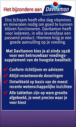 Davitamon Vitamine D 50+ Smelttabletten Voordelen