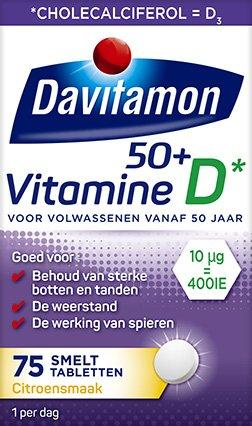 Davitamon Vitamine D 50+ Smelttabletten Verpakking