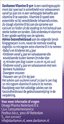 Davitamon Vitamine D 50+ Smelttabletten Gezondheidsraad 2