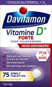 Davitamon Vitamine D3 Forte Smelttabletten Verpakking