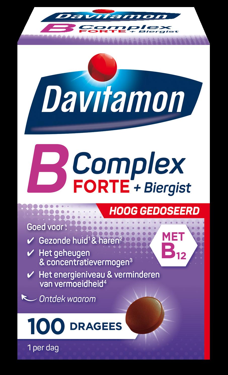 Davitamon B-Complex Forte &#8211; <br>100 dragees