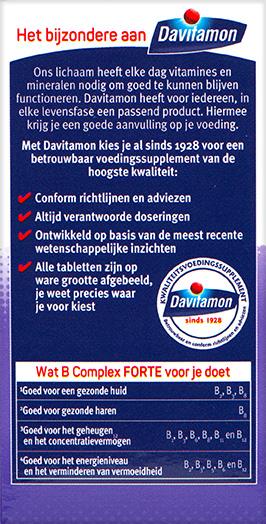 Davitamon B Complex Forte Dragees Voordelen