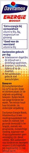 Davitamon Energie Boost Vitaminekuur Drinkflesjes Voordelen