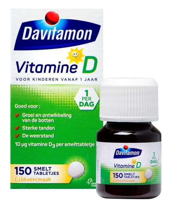 Davitamon Vitamine D voor Kinderen – 150 smelttabletjes