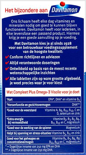Davitamon Compleet Omega 3 Capsules Voordelen