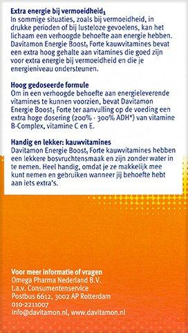 Davitamon Energie Boost Forte Kauwvitamines Beschrijving