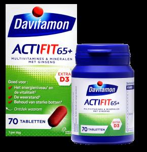 Davitamon Actifit 65+ Tabletten Verpakking totaal