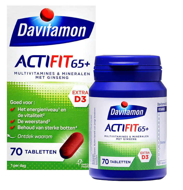 Davitamon Actifit 65<sup>+</sup> &#8211; <br>70 tabletten