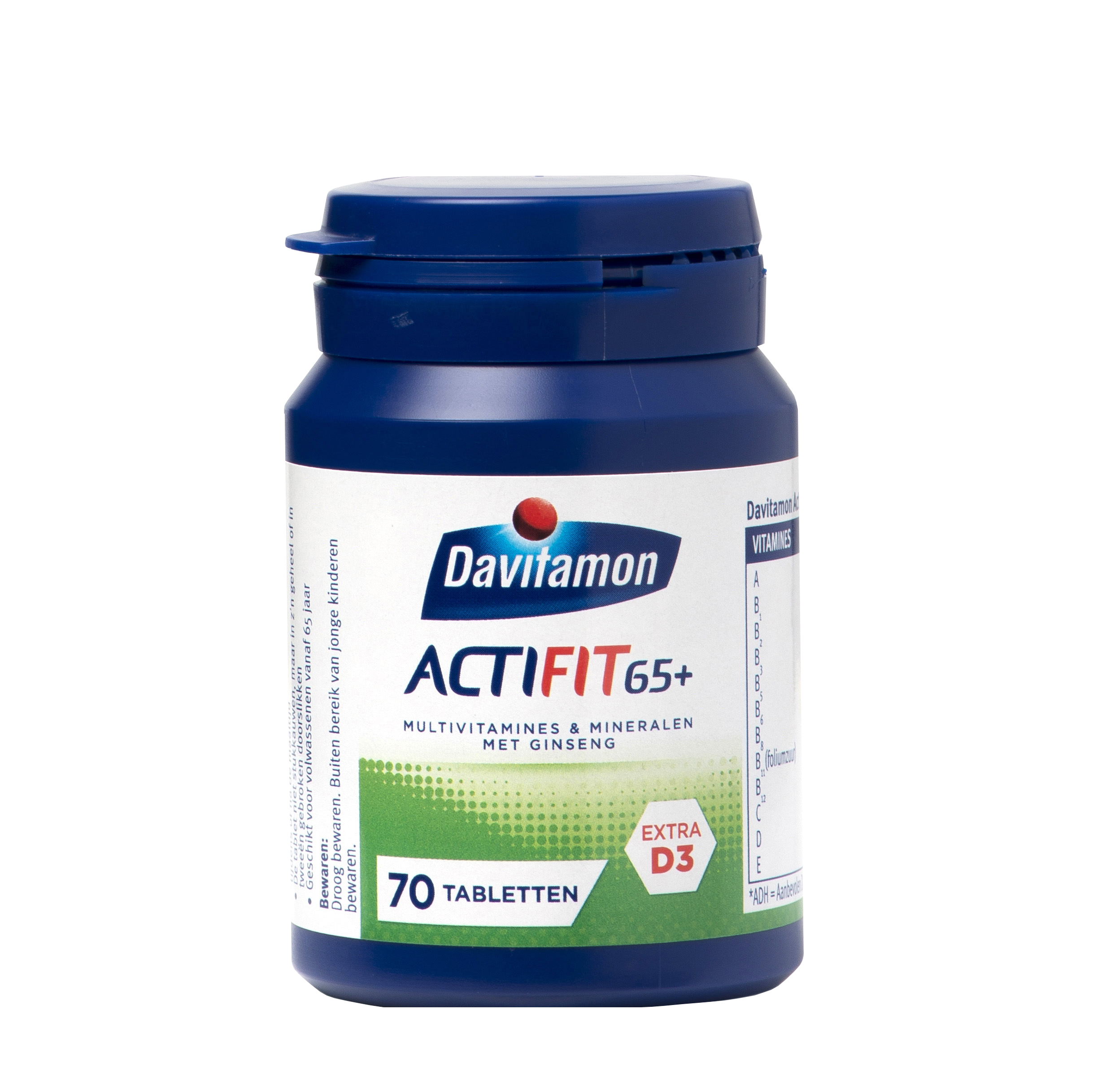 Davitamon Actifit 65+ Tabletten: multivitamines & mineralen met ginseng
