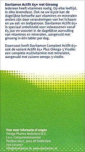 Davitamon Actifit 65+ Tabletten beschrijving