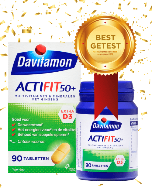 Davitamon Actifit 50<sup>+</sup> – <br>90 tabletten