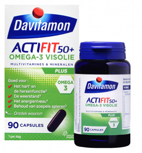 Davitamon ActiFit 50+ Visolie Tabletten Verpakking totaal