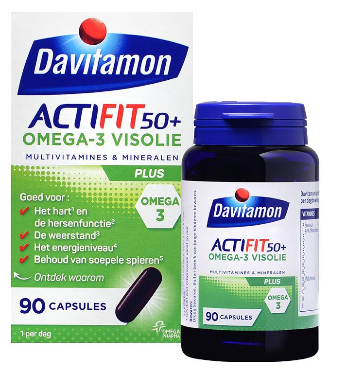 Davitamon Actifit 50<sup>+</sup> <br>Omega-3 Visolie &#8211; 90 capsules