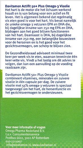 Davitamon ActiFit 50+ Visolie Tabletten Beschrijving