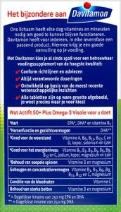 Davitamon ActiFit 50+ Visolie Tabletten Voordelen
