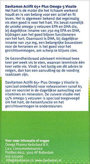 Davitamon Actifit 65+ Visolie Tabletten Beschrijving