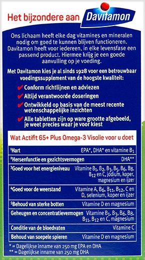 Davitamon Actifit 65+ Visolie Tabletten Voordelen