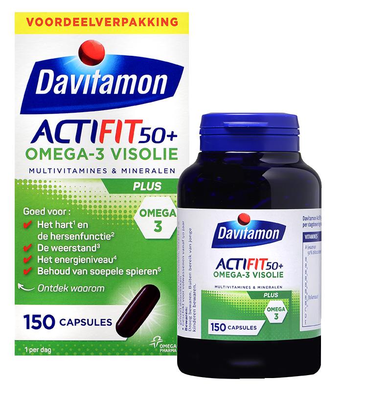Davitamon Actifit 50<sup>+</sup> <br>Omega-3 Visolie &#8211; 150 capsules