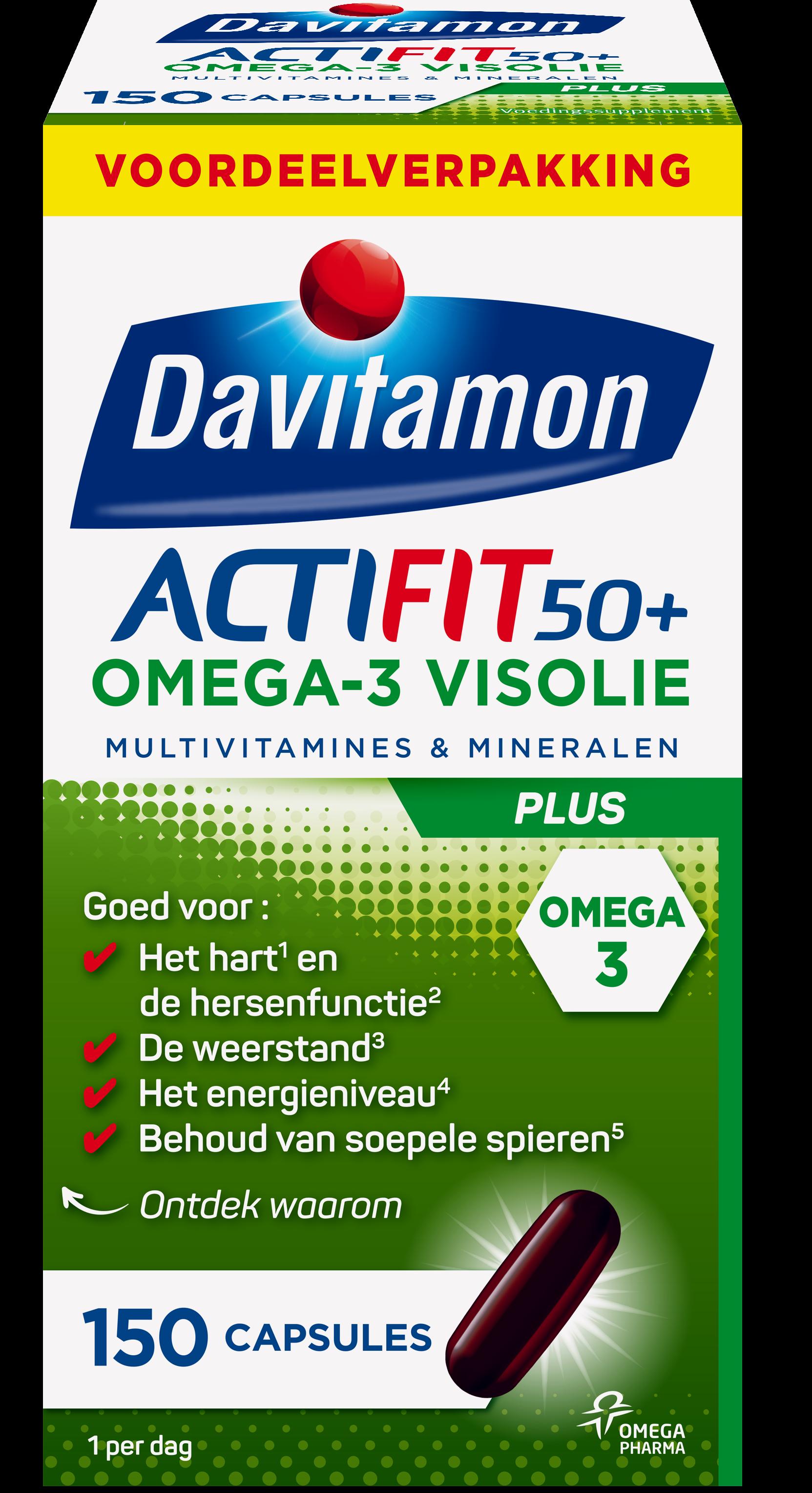 Davitamon Actifit Visolie Voordeel Capsules Verpakking