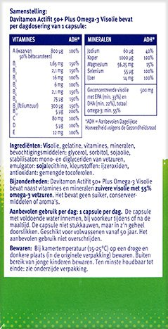 Davitamon Actifit Visolie Voordeel Capsules Ingredienten