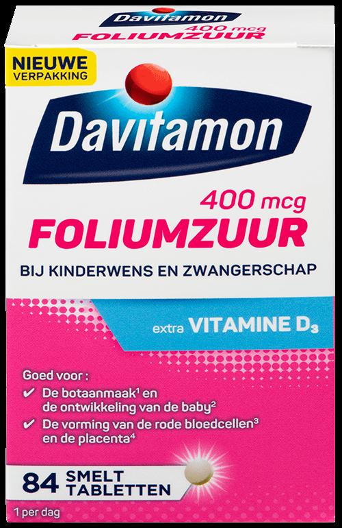 Davitamon foliumzuur tabletten verpakking