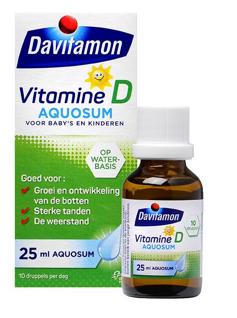 Davitamon Vitamine D Aquosum Druppels Verpakking totaal