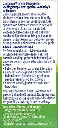 Davitamon Vitamine D Aquosum Druppels Gezondheidsraad