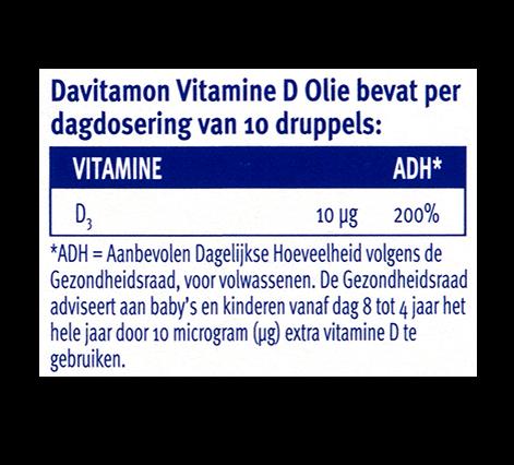 Davitamon Vitamine D Olie Dosering