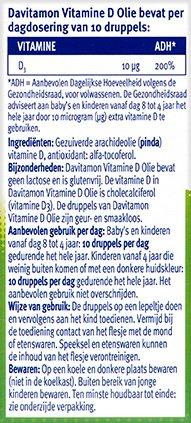 Davitamon Vitamine D Olie Ingredienten