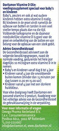 Davitamon Vitamine D Olie Gezondheidsraad