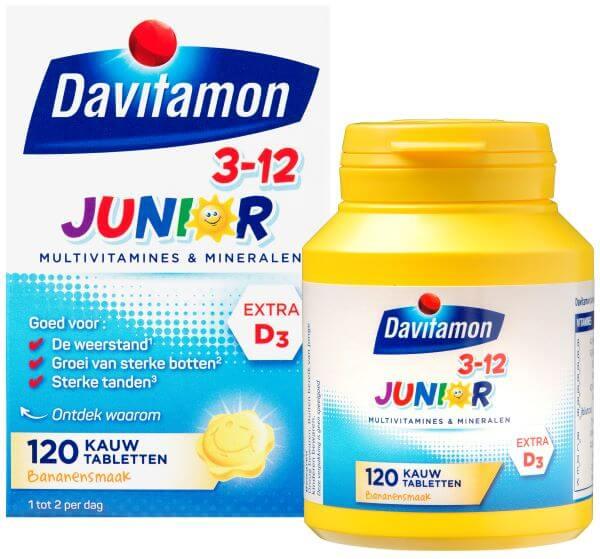 Davitamon Junior 3-12 Banaan – <br>120 kauwtabletten