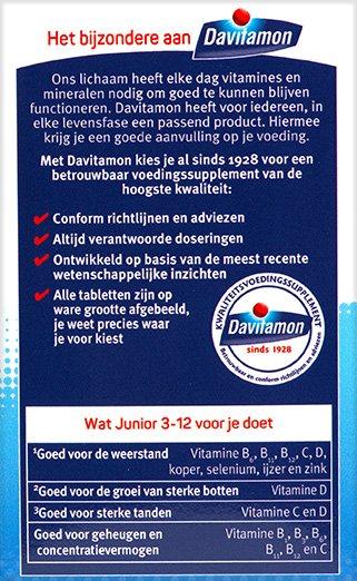 Davitamon Junior banaan Kauwtabletten Voordelen