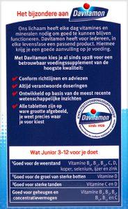 Davitamon Junior 3-12 Banaan Kauwtabletten Voordelen