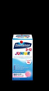 Davitamon Junior 3-12 Banaan Kauwtabletten Verpakking