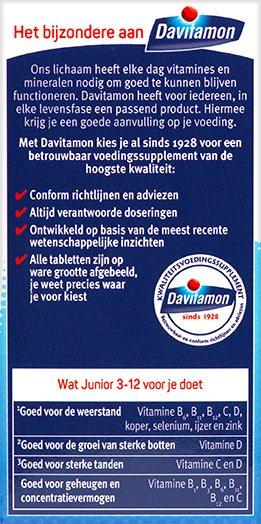 Davitamon Junior framboos Kauwtabletten Voordelen