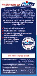 Davitamon Junior 3-12 Banaan Kauwtabletten Voordelen 2