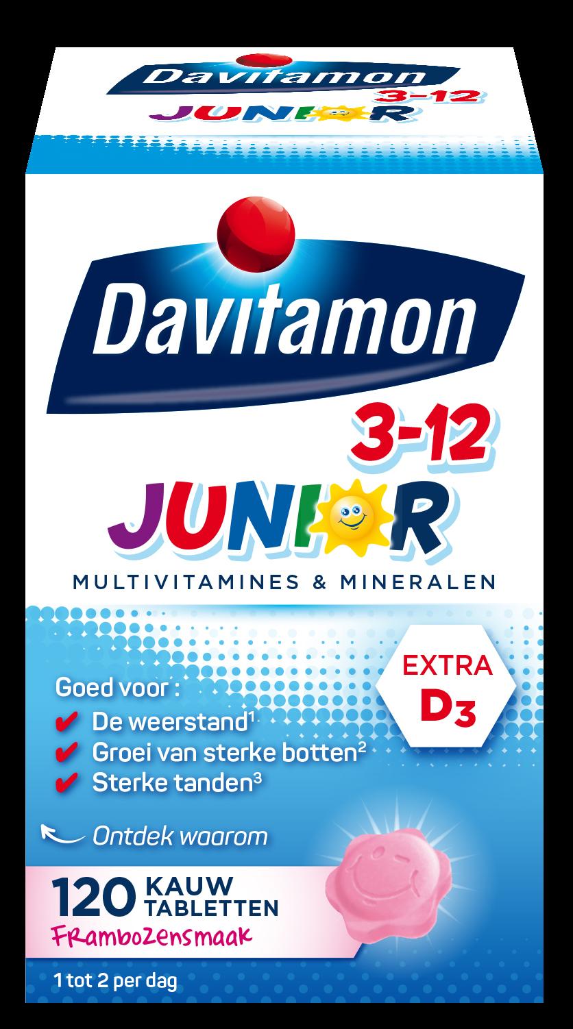 Davitamon Junior framboos Kauwtabletten Verpakking 2