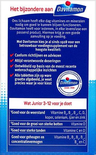 Davitamon Junior framboos Kauwtabletten Voordelen 2