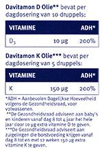 Davitamon Vitamine D K Olie Dosering