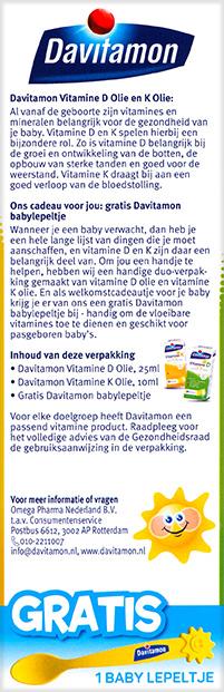 Davitamon Vitamine D K Olie Beschrijving