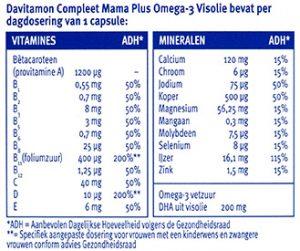 Davitamon Compleet Mama Visolie Capsules Ingrediënten