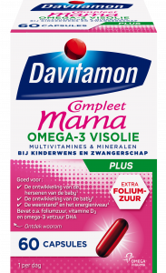 Davitamon Compleet Mama Visolie Capsules Verpakking