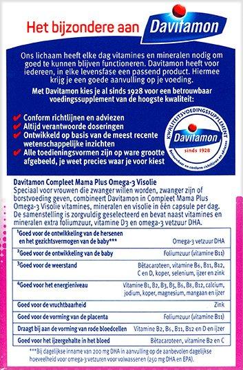Davitamon Compleet Mama Visolie Capsules Voordelen