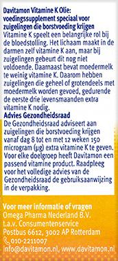 Davitamon Vitamine K Olie Gezondheidsraad